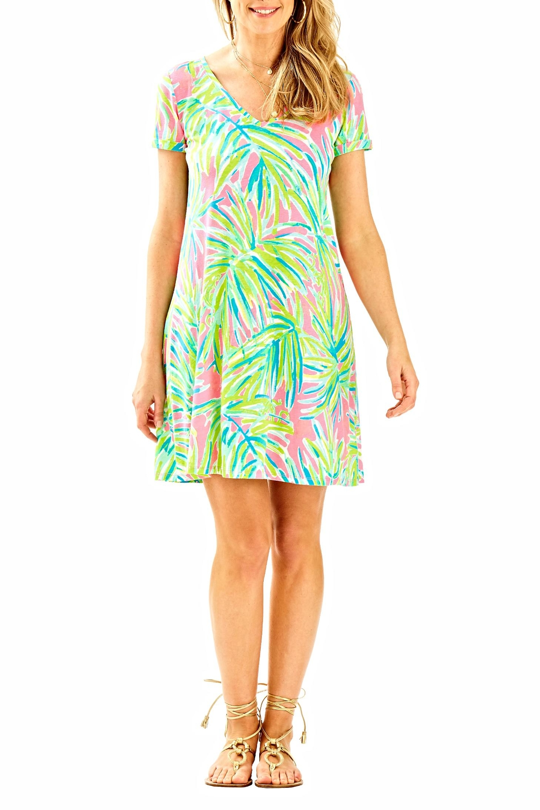 Lilly Pulitzer Short-Sleeve Dress - Side Cropped Image
