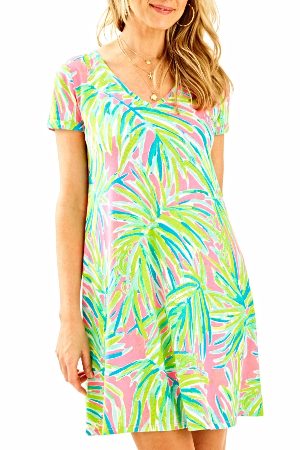 Lilly Pulitzer Short-Sleeve Dress - Front Cropped Image