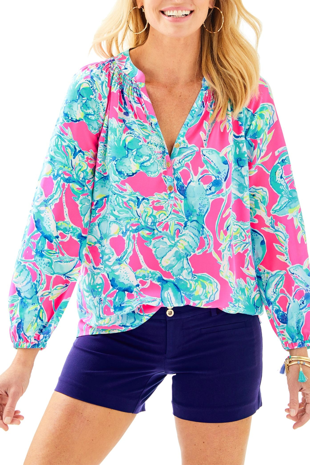 Lilly Pulitzer Joette Short - Front Cropped Image