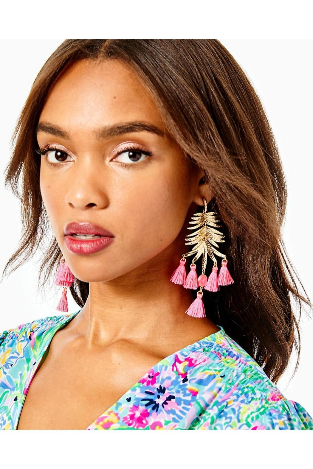 Lilly Pulitzer Jungle Rain Earrings - Front Full Image