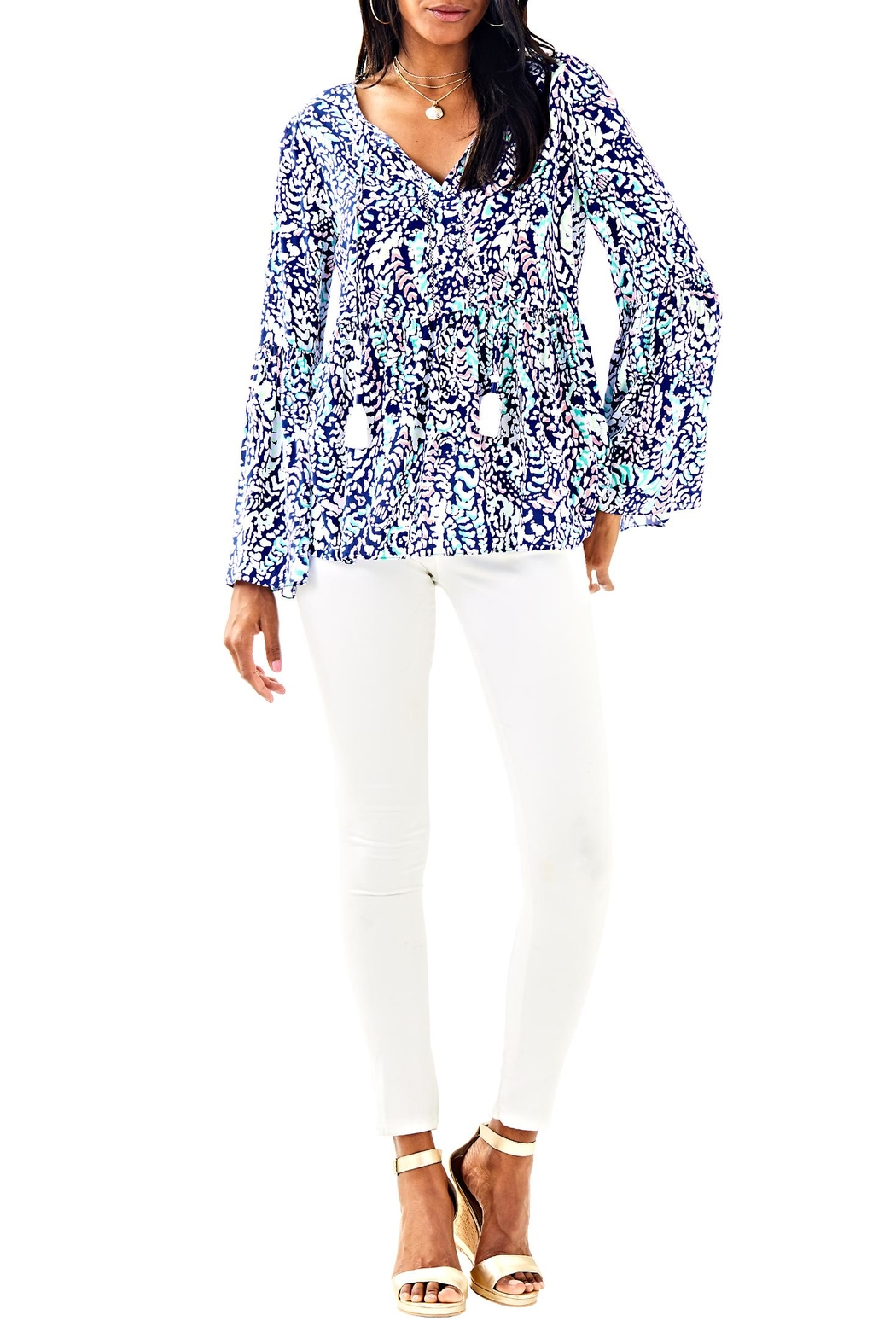Lilly Pulitzer Kahli Top - Side Cropped Image