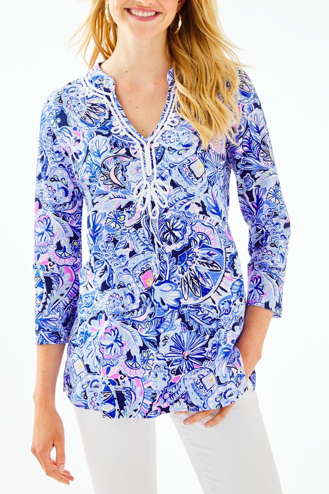Lilly Pulitzer Kaia Knit Tunic - Front Cropped Image