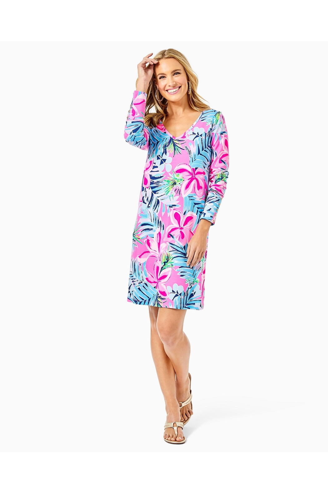 Lilly Pulitzer Kaisley Dual-Neck Dress - Side Cropped Image
