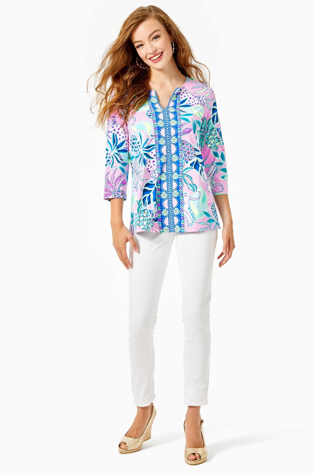 Lilly Pulitzer Karina Tunic Top - Side Cropped Image