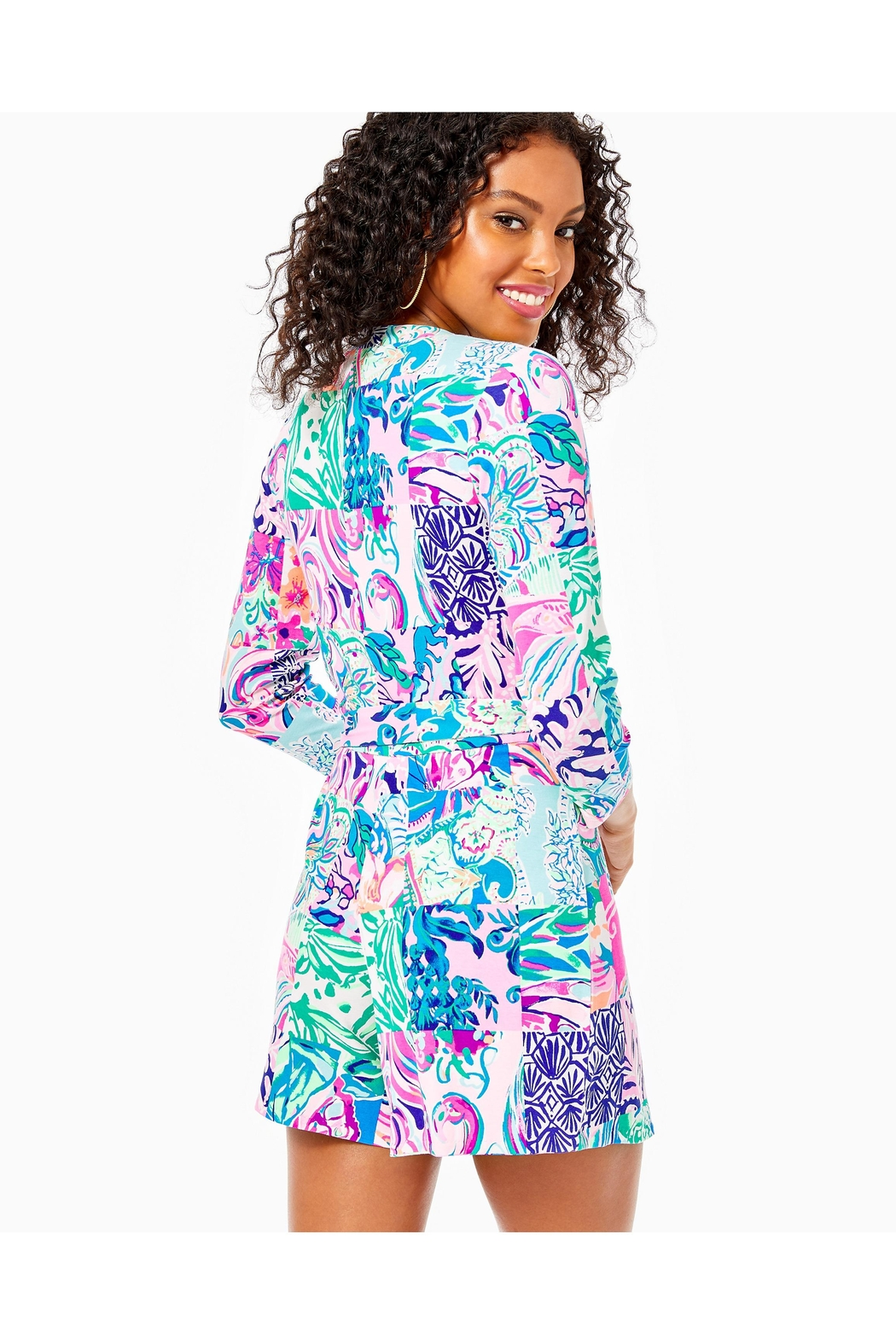 Lilly Pulitzer Karlie Wrap Romper - Front Full Image