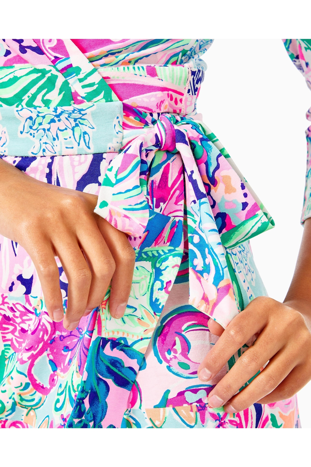 Lilly Pulitzer Karlie Wrap Romper - Back Cropped Image