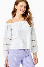 Lilly Pulitzer Katt Off-The-Shoulder Top - Front cropped