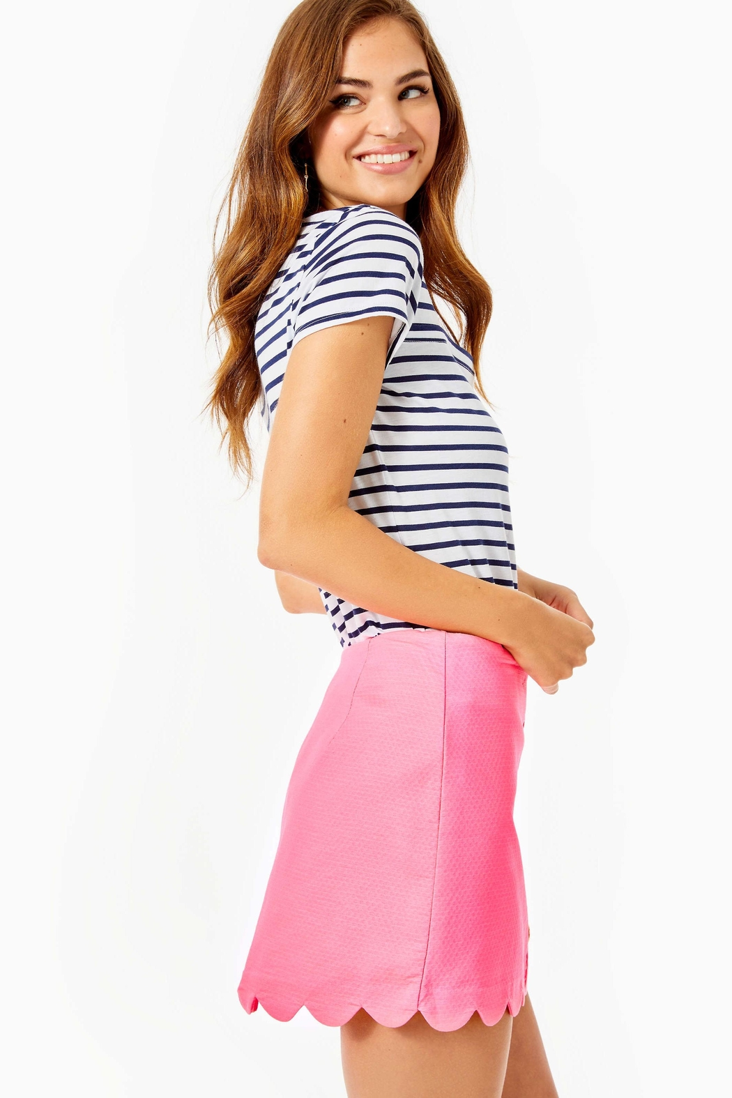 Lilly Pulitzer Kaylie Button-Down Skort - Side Cropped Image