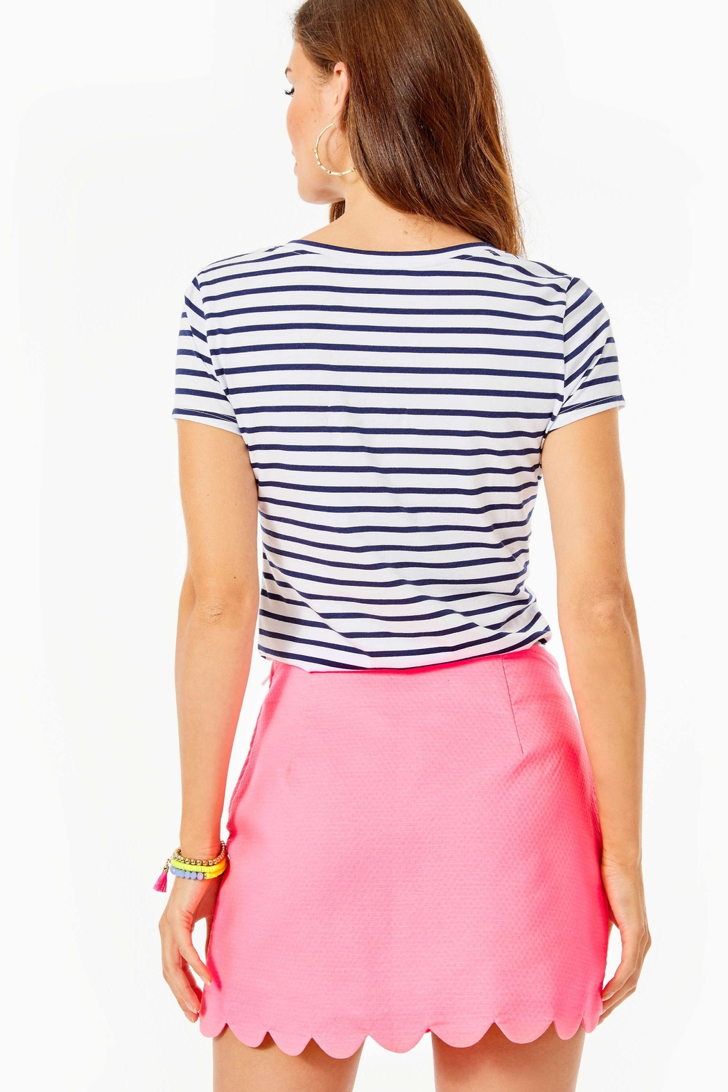 Lilly Pulitzer Kaylie Button-Down Skort - Front Full Image