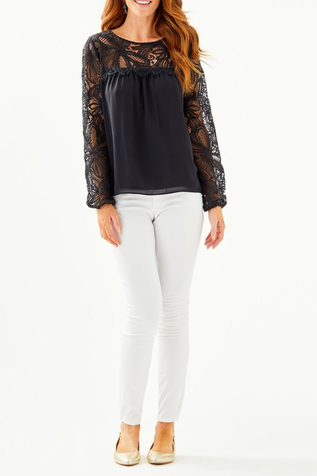 Lilly Pulitzer Keegan Lace Top - Side Cropped Image
