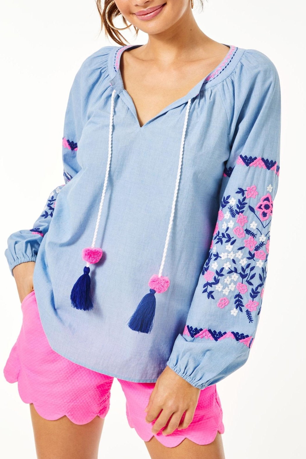 Lilly Pulitzer Keela Embroidered Top - Main Image