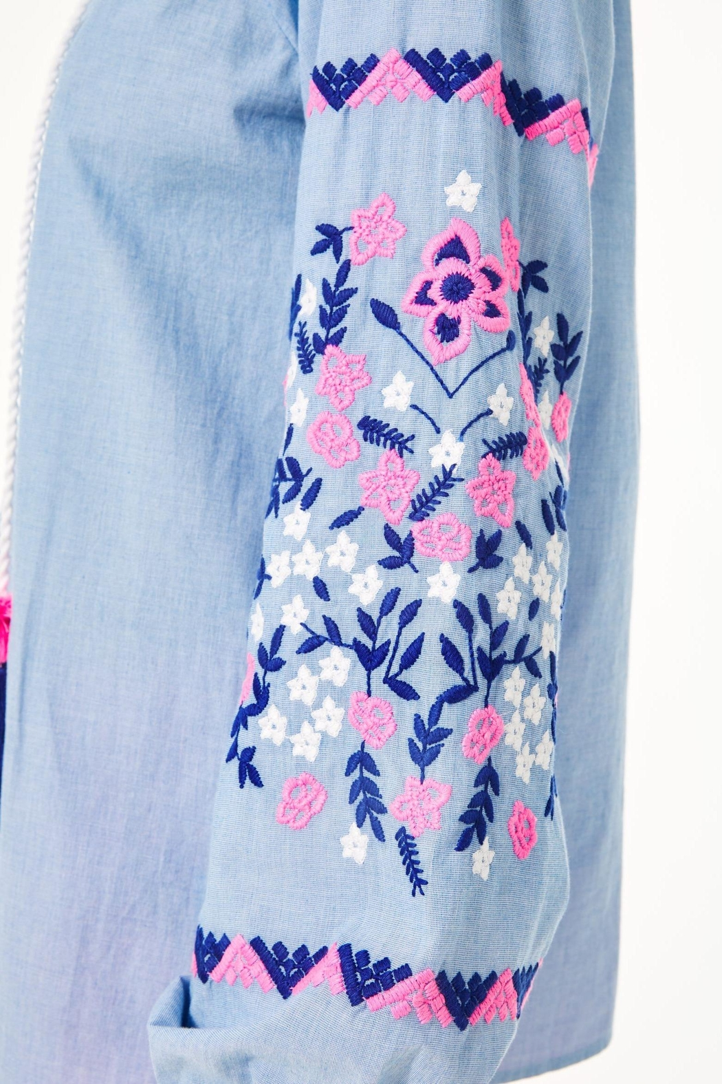 Lilly Pulitzer Keela Embroidered Top - Side Cropped Image