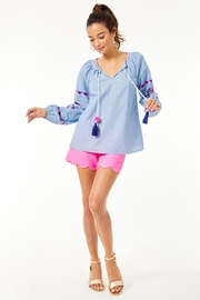 Lilly Pulitzer Keela Embroidered Top - Back cropped