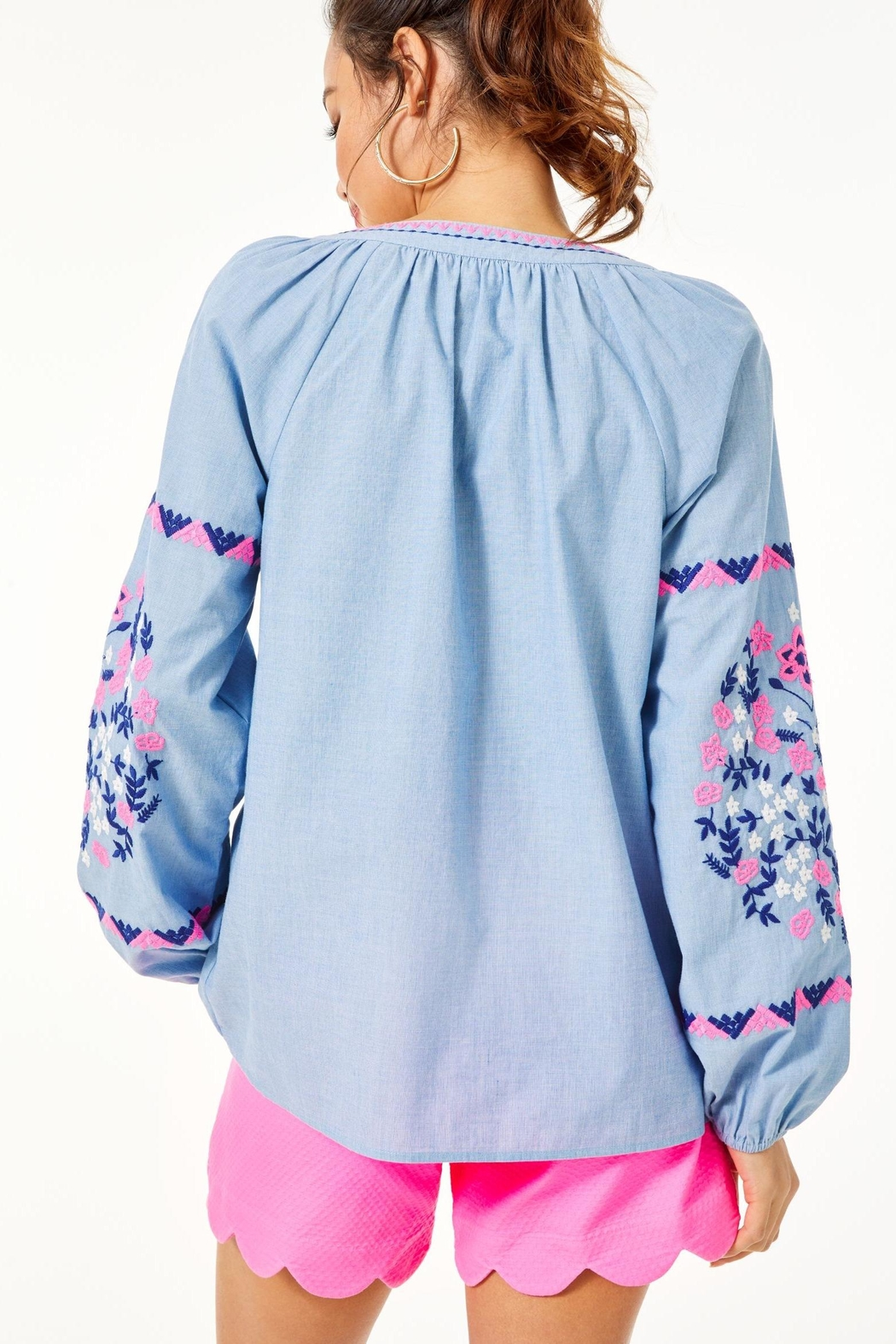 Lilly Pulitzer Keela Embroidered Top - Front Full Image