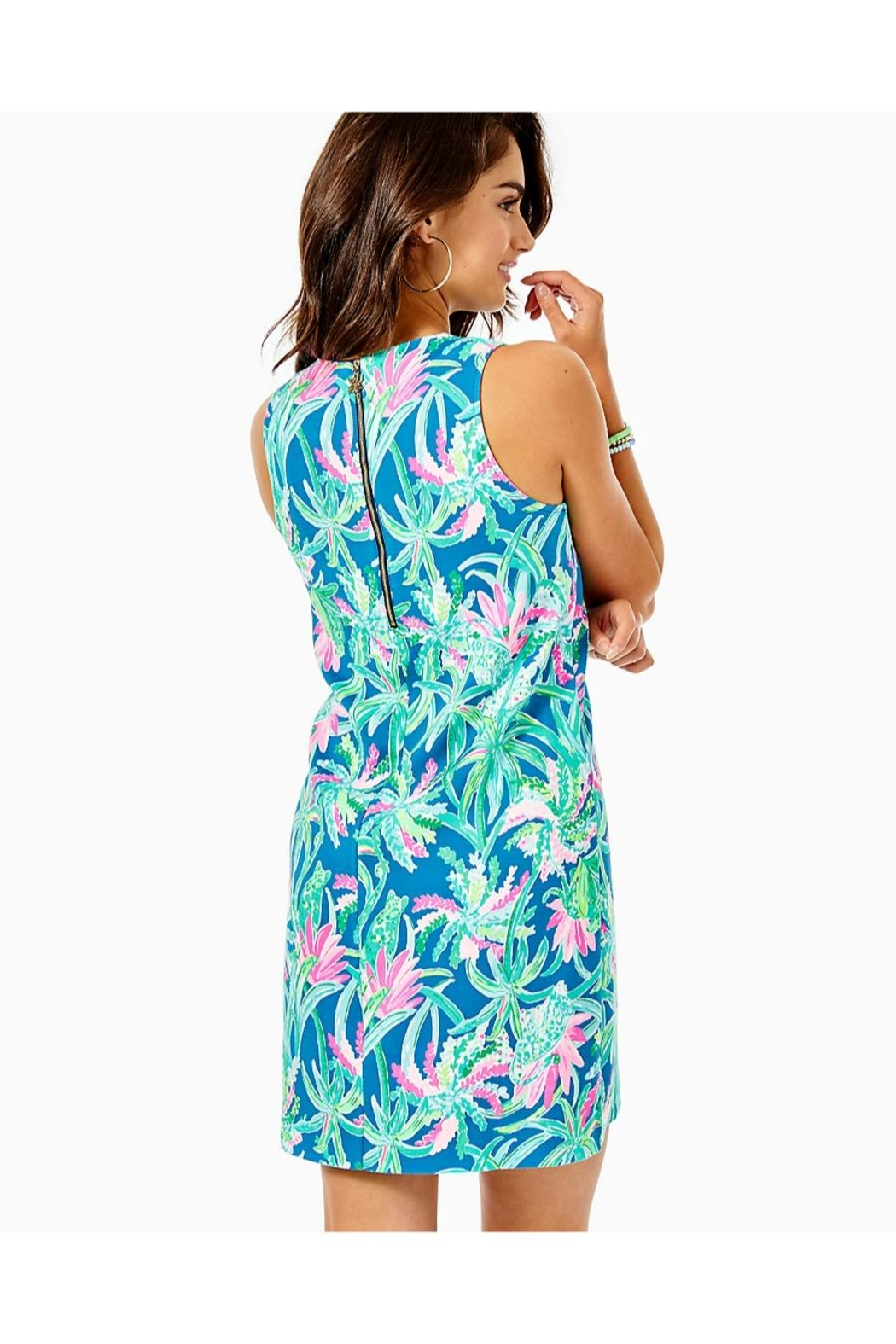 Lilly Pulitzer Kelby Stretch-Shift Dress - Front Full Image