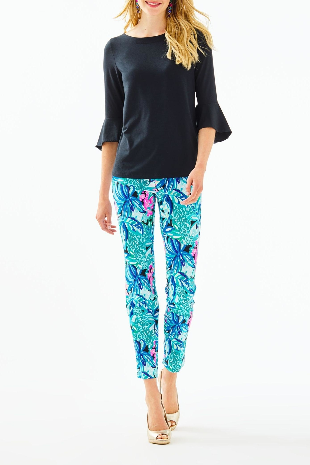Lilly Pulitzer Kelly Skinny-Ankle Pant - Back Cropped Image