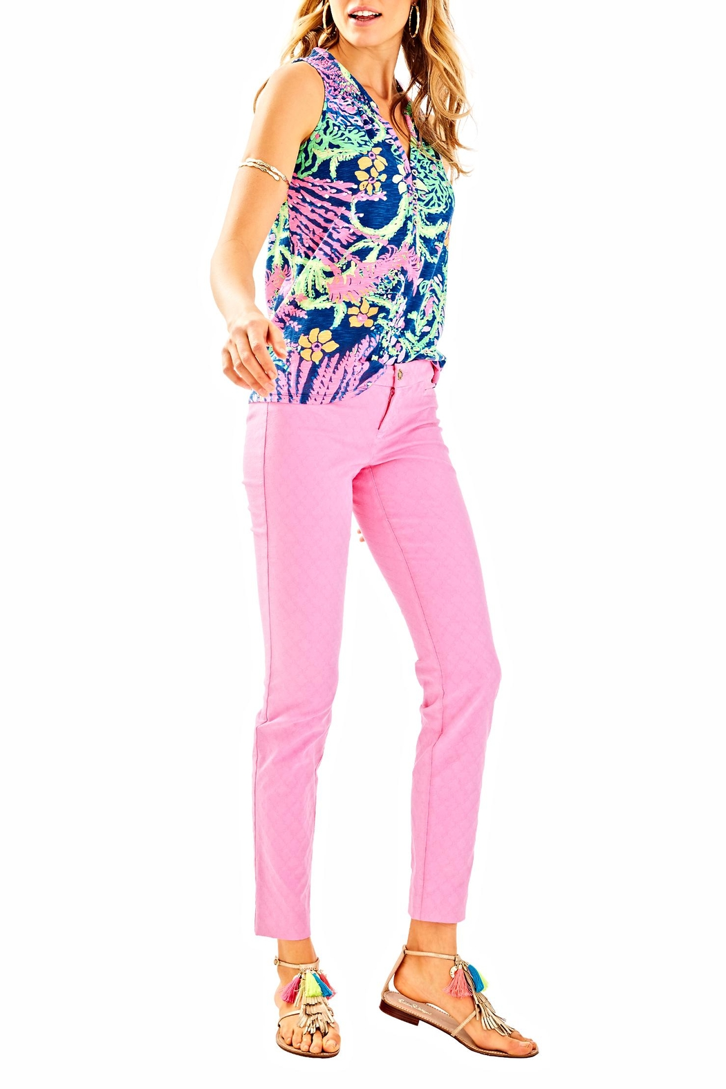 Lilly Pulitzer Kelly Skinny Ankle Pant - Back Cropped Image