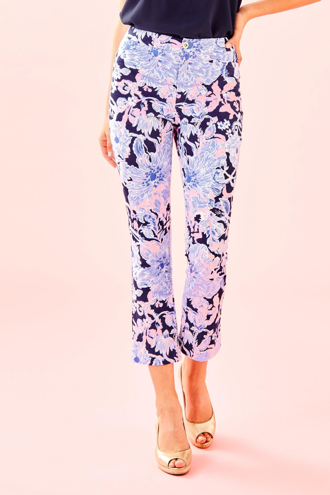 Lilly Pulitzer Kelly Skinny Pant - Front Cropped Image