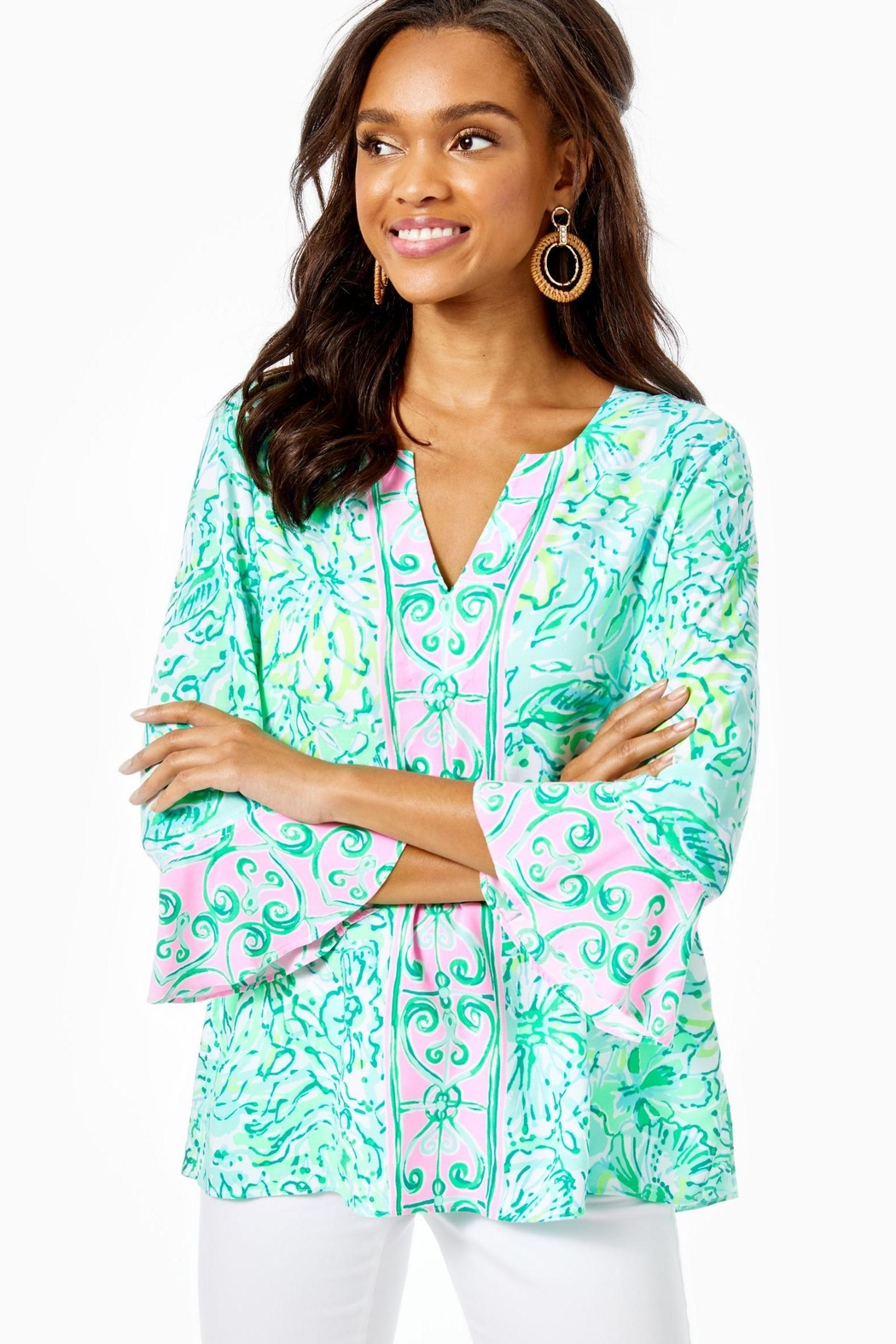 Lilly Pulitzer Keona Tunic - Side Cropped Image