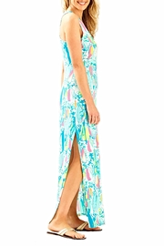 Lilly Pulitzer Maxi Side Slit Dress - Front full body