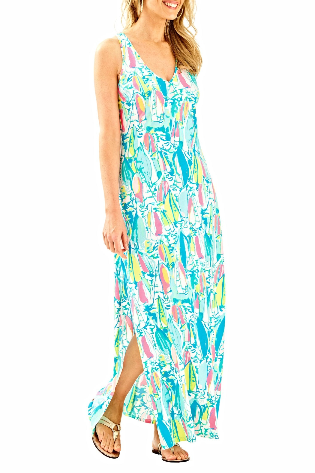 Lilly Pulitzer Maxi Side Slit Dress - Main Image