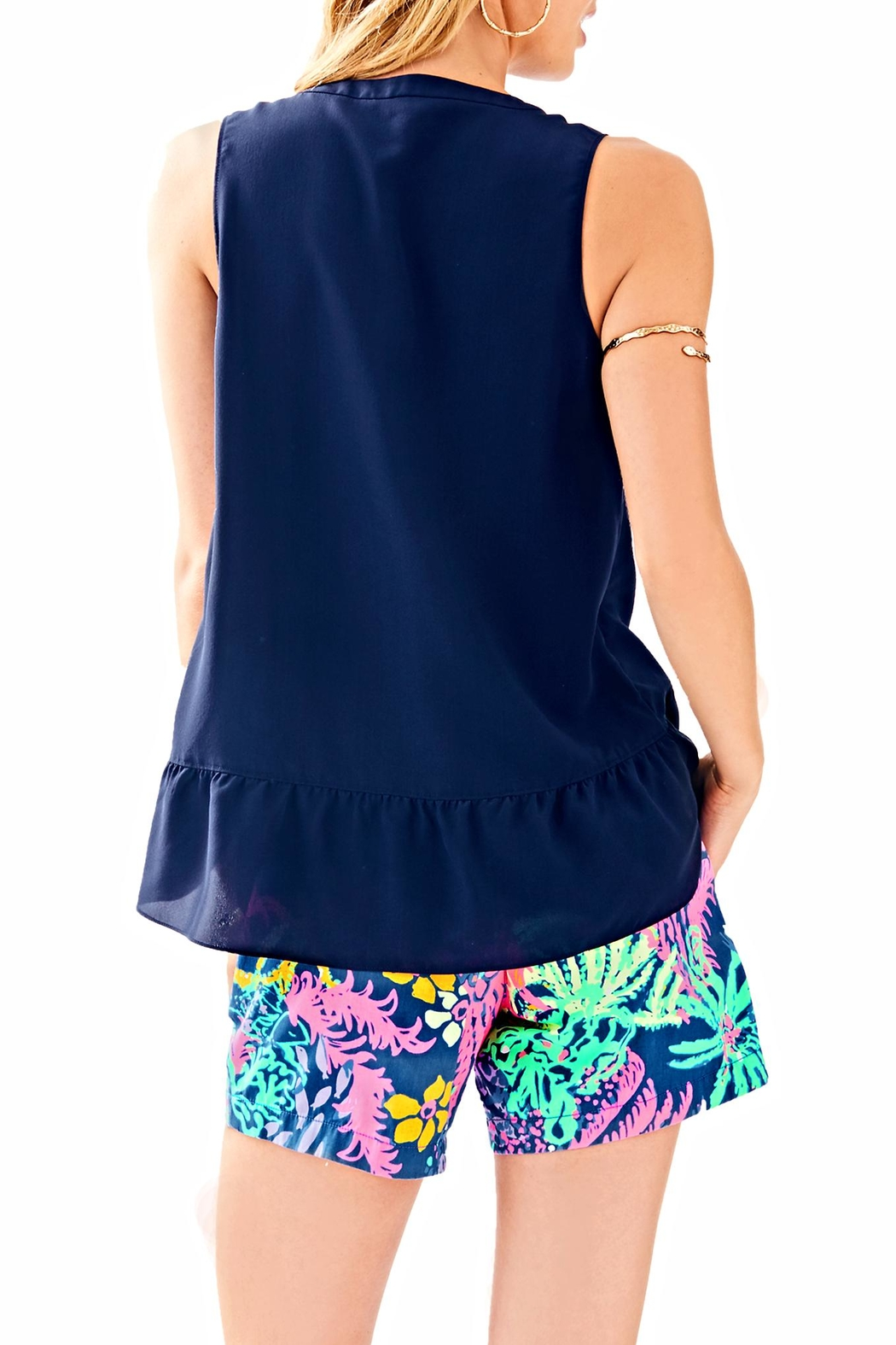 Lilly Pulitzer Kery Silk Top - Front Full Image