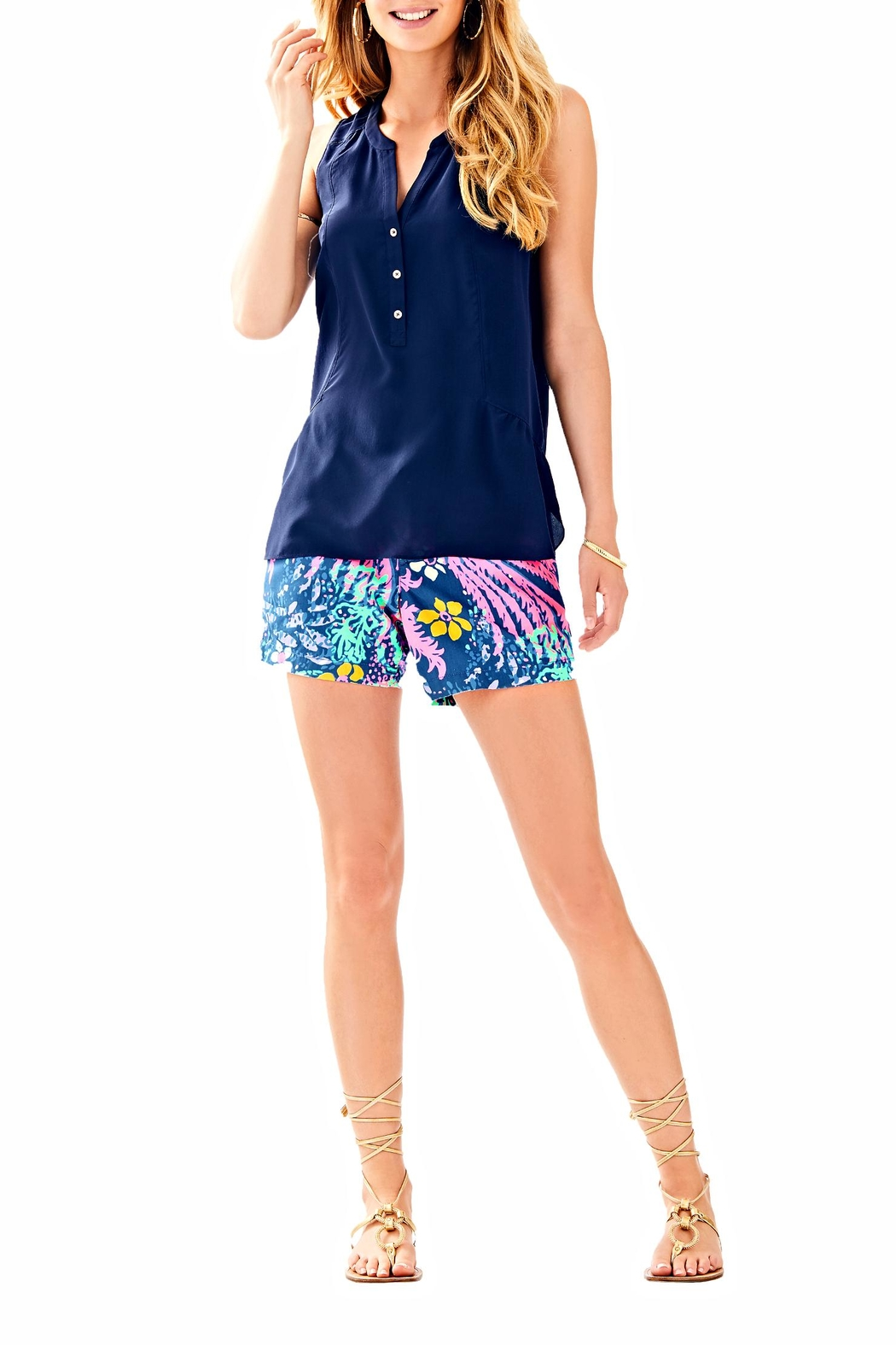 Lilly Pulitzer Kery Silk Top - Main Image