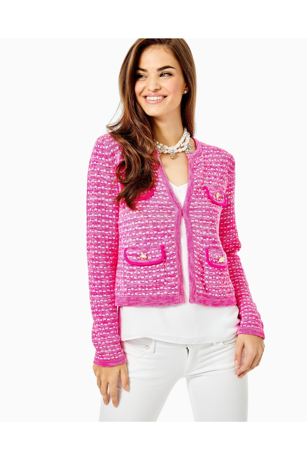 Lilly Pulitzer Kienna Cardigan - Side Cropped Image