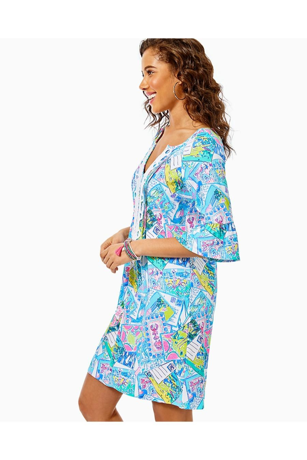 Lilly Pulitzer Krysta Tunic Dress - Side Cropped Image