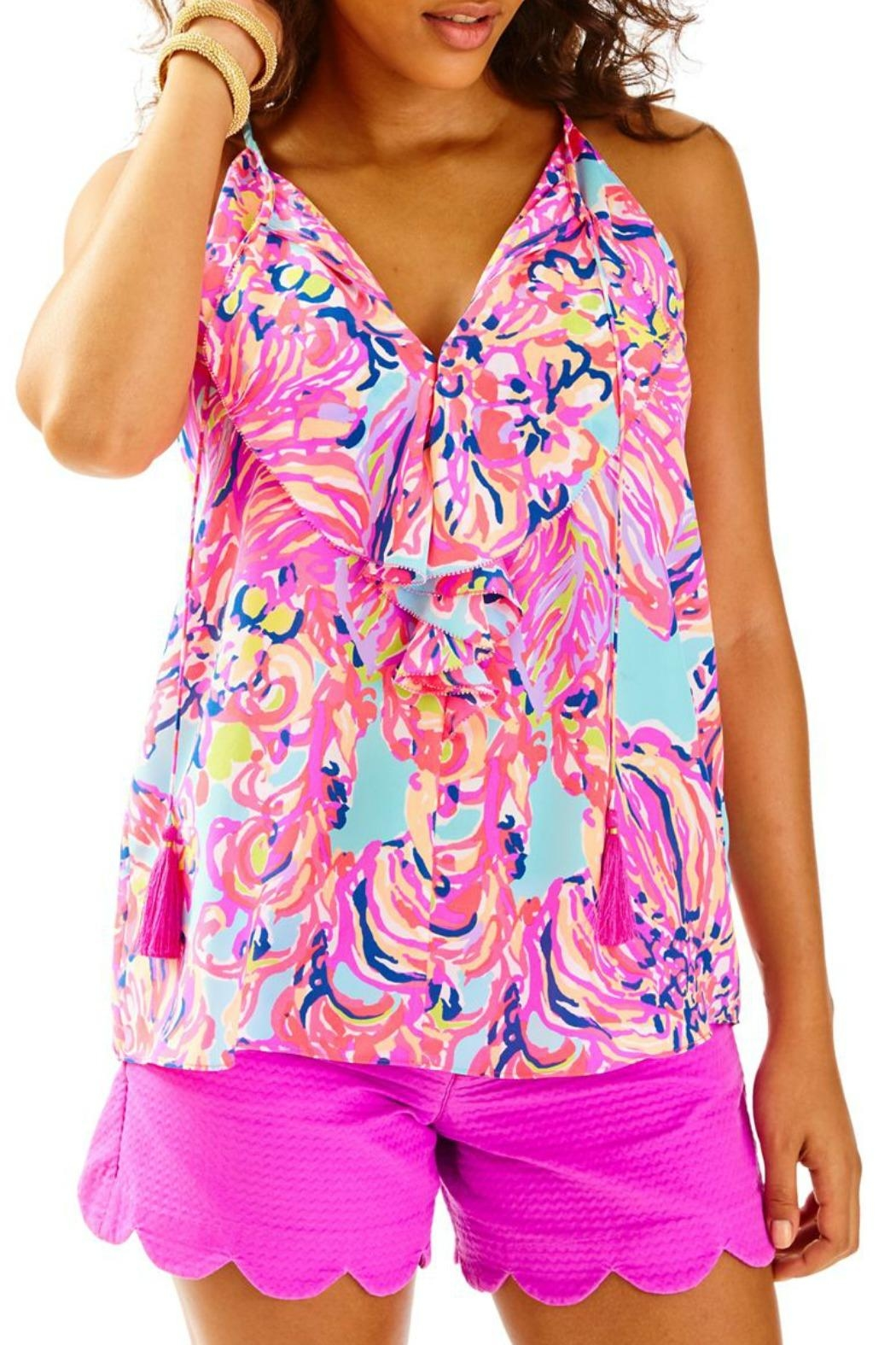 Lilly Pulitzer Lachelle Silk Top - Main Image