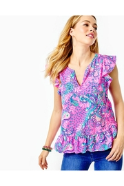 Lilly Pulitzer Lacie Peplum Top - Side cropped