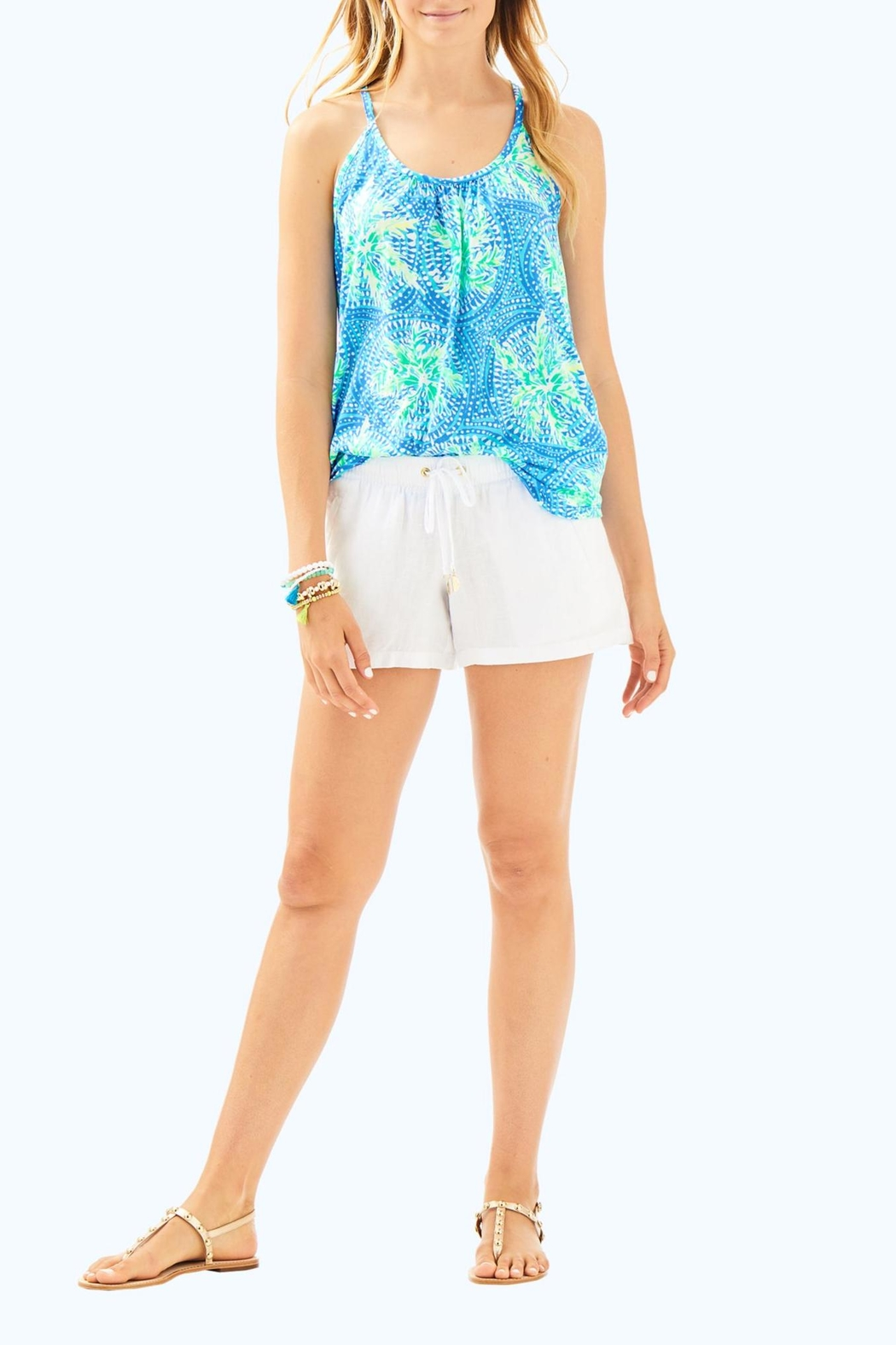 Lilly Pulitzer Lacy Tank Top - Side Cropped Image