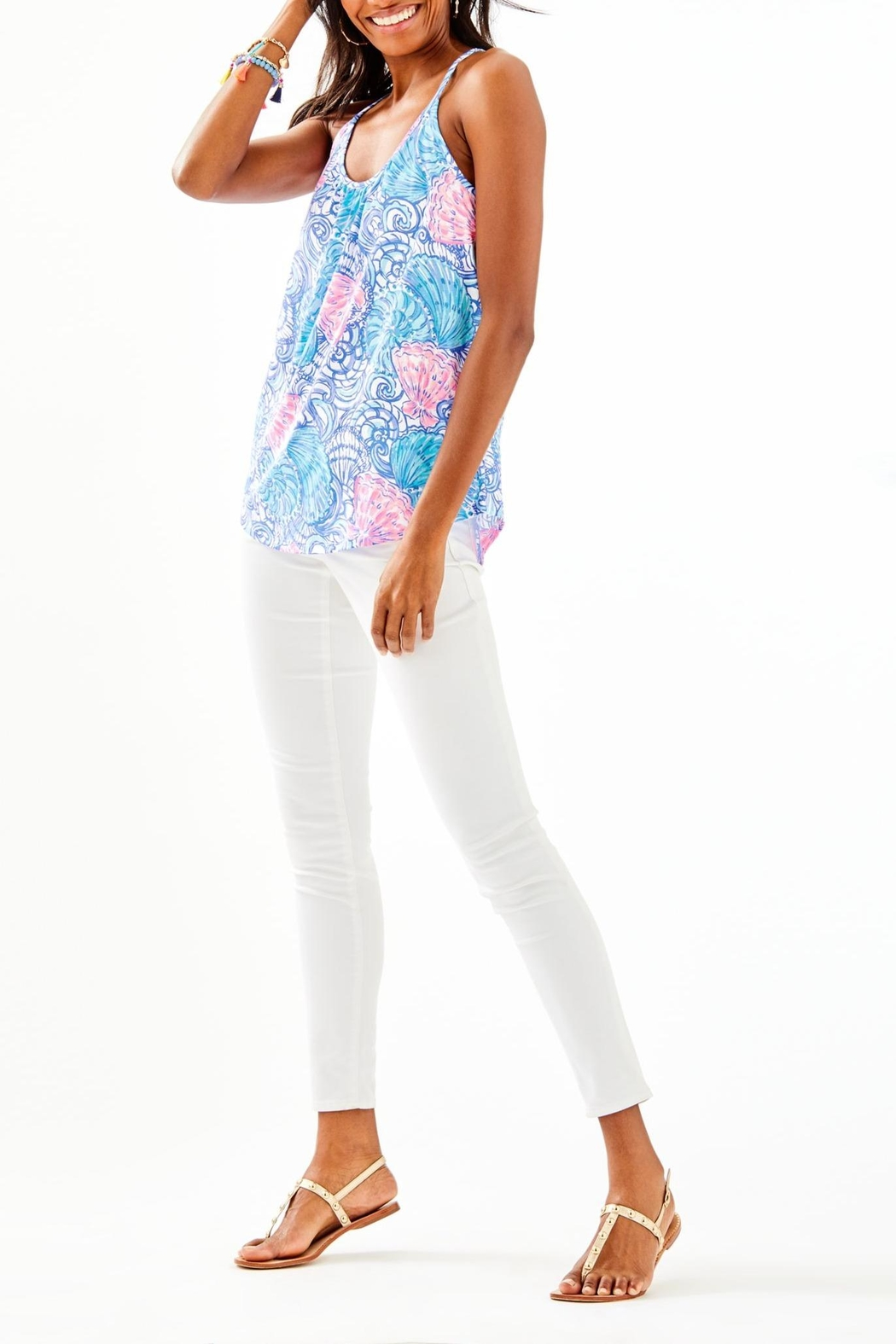 Lilly Pulitzer Lacy Top - Side Cropped Image
