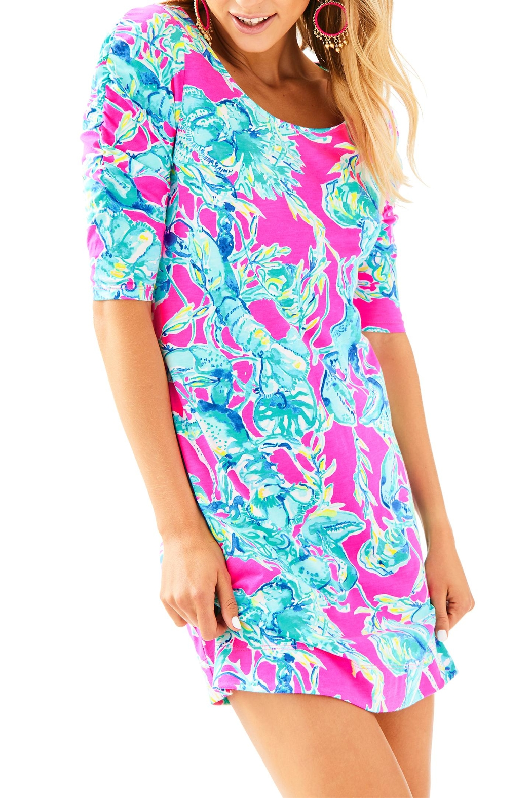 Lilly Pulitzer Lajolla Dress - Front Cropped Image