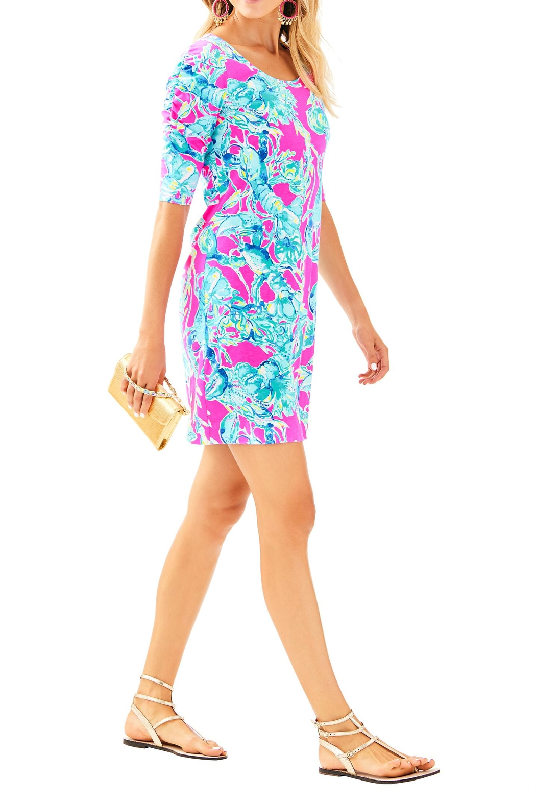 Lilly Pulitzer Lajolla Dress - Back Cropped Image