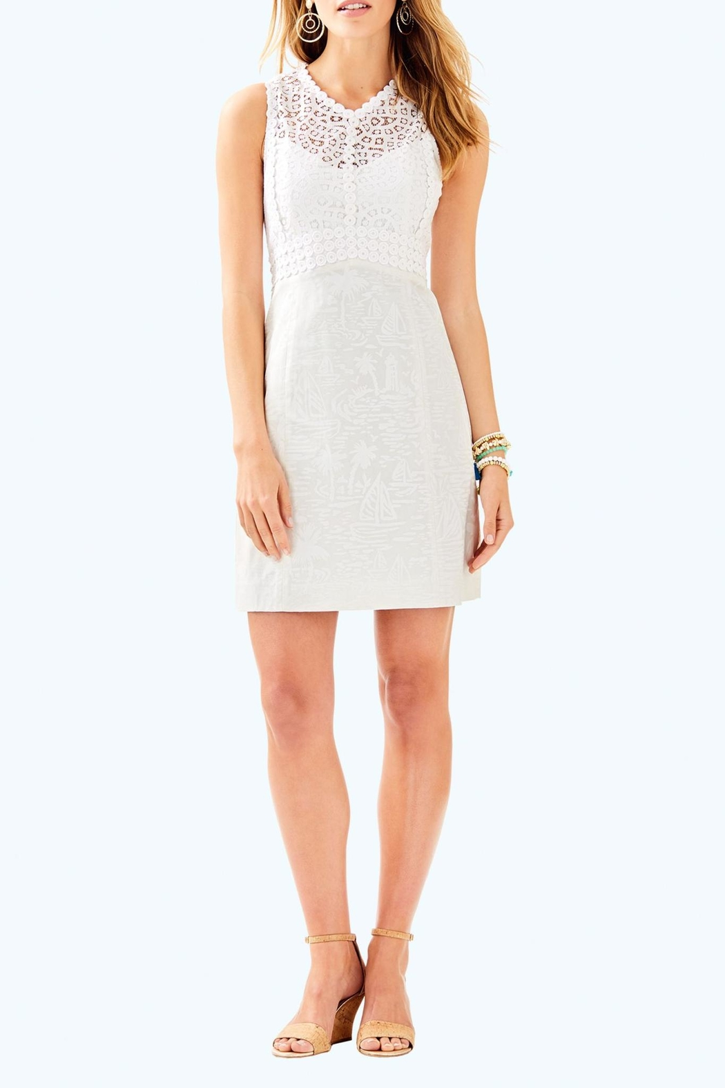 Lilly Pulitzer Leigh Stretch-Shift Dress - Back Cropped Image