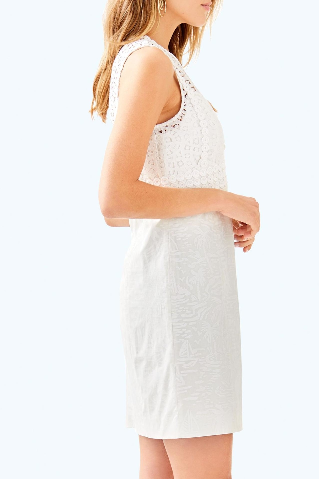 Lilly Pulitzer Leigh Stretch-Shift Dress - Side Cropped Image
