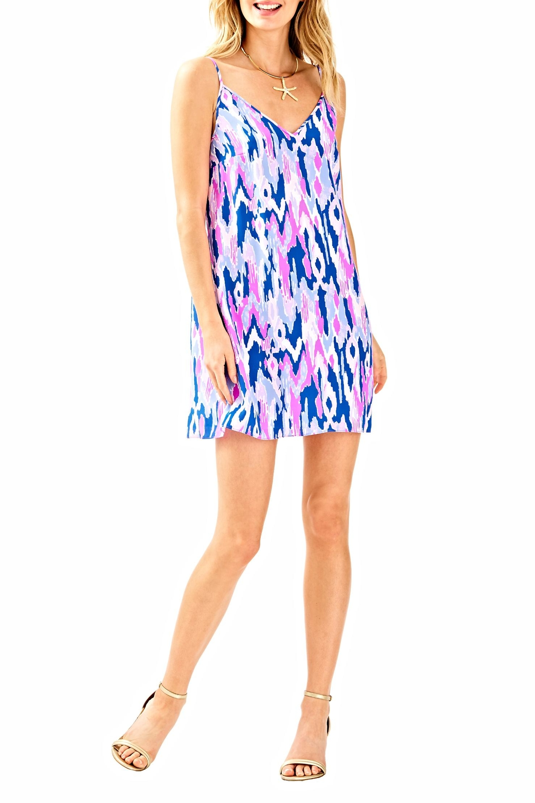 Lilly Pulitzer Lela Silk Dress - Back Cropped Image