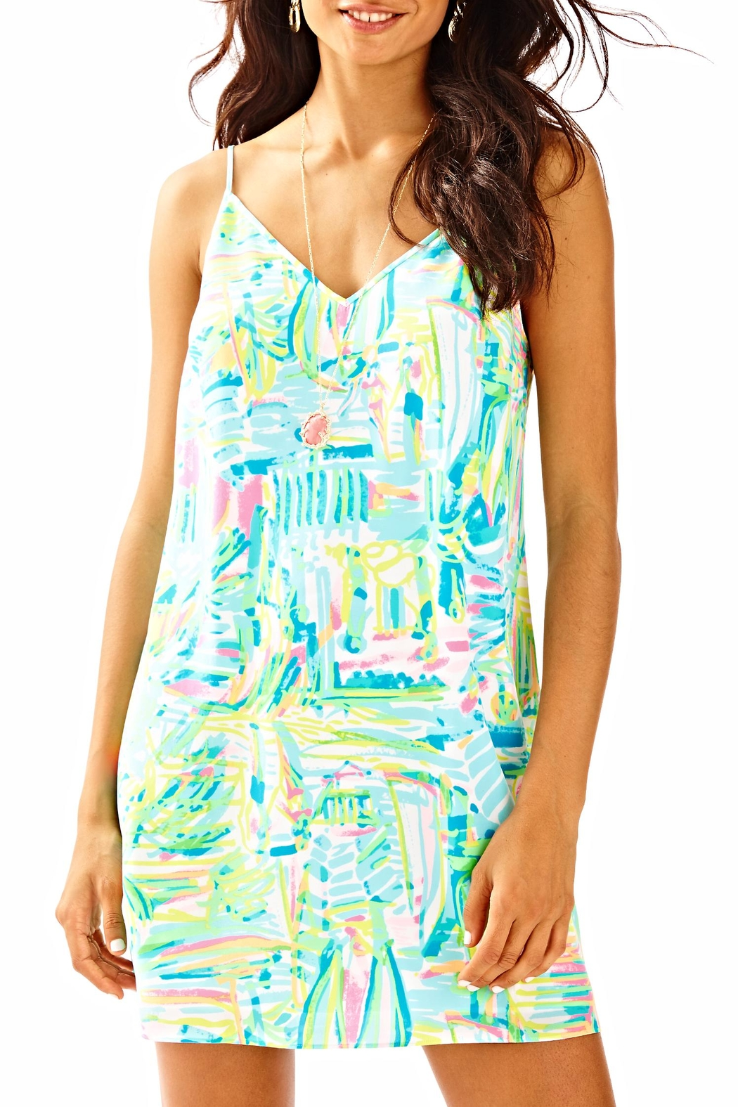 Lilly Pulitzer Lela Silk Dress - Front Cropped Image