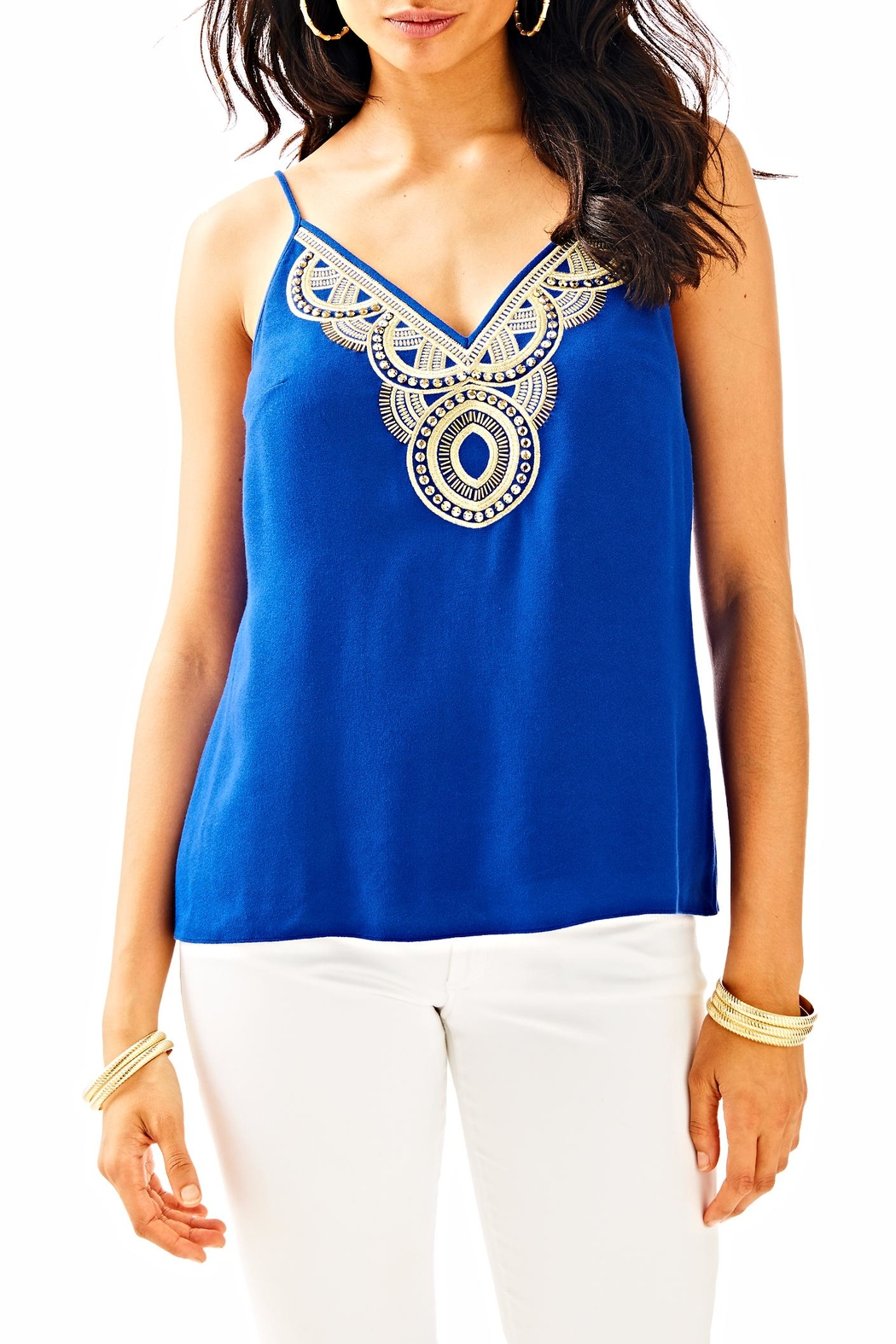 Lilly Pulitzer Lela Top - Front Cropped Image