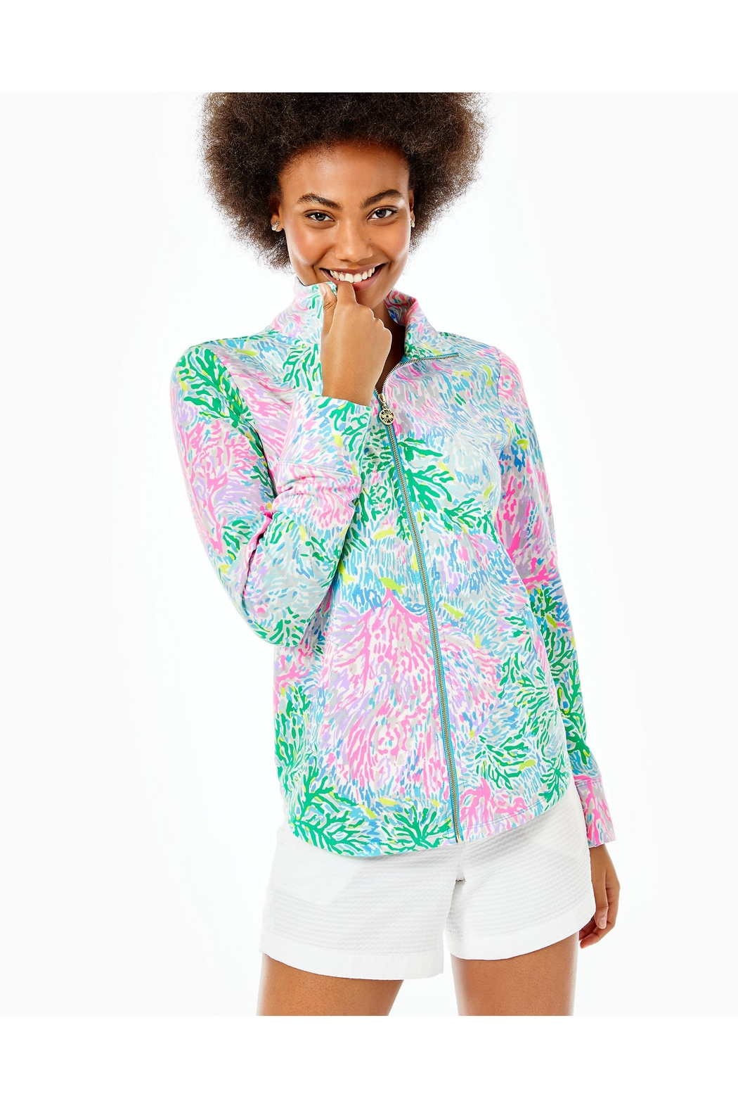 Lilly Pulitzer Leona Full-Zip Jacket - Front Cropped Image