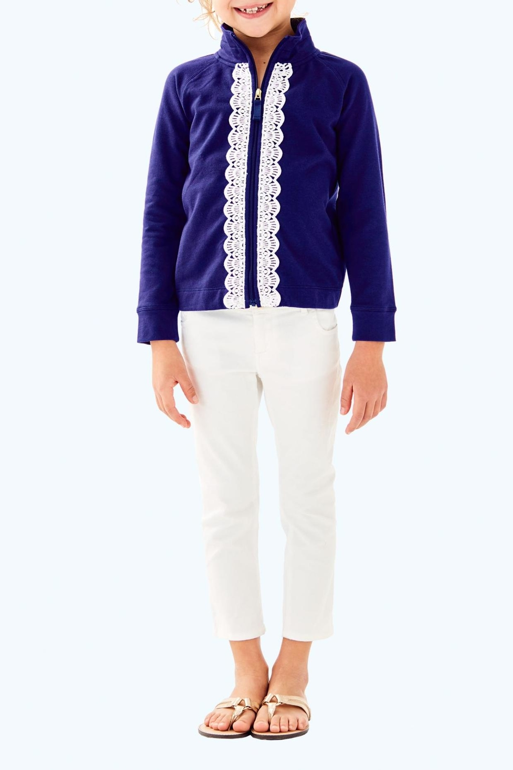 Lilly Pulitzer Leona Zip Up - Front Cropped Image