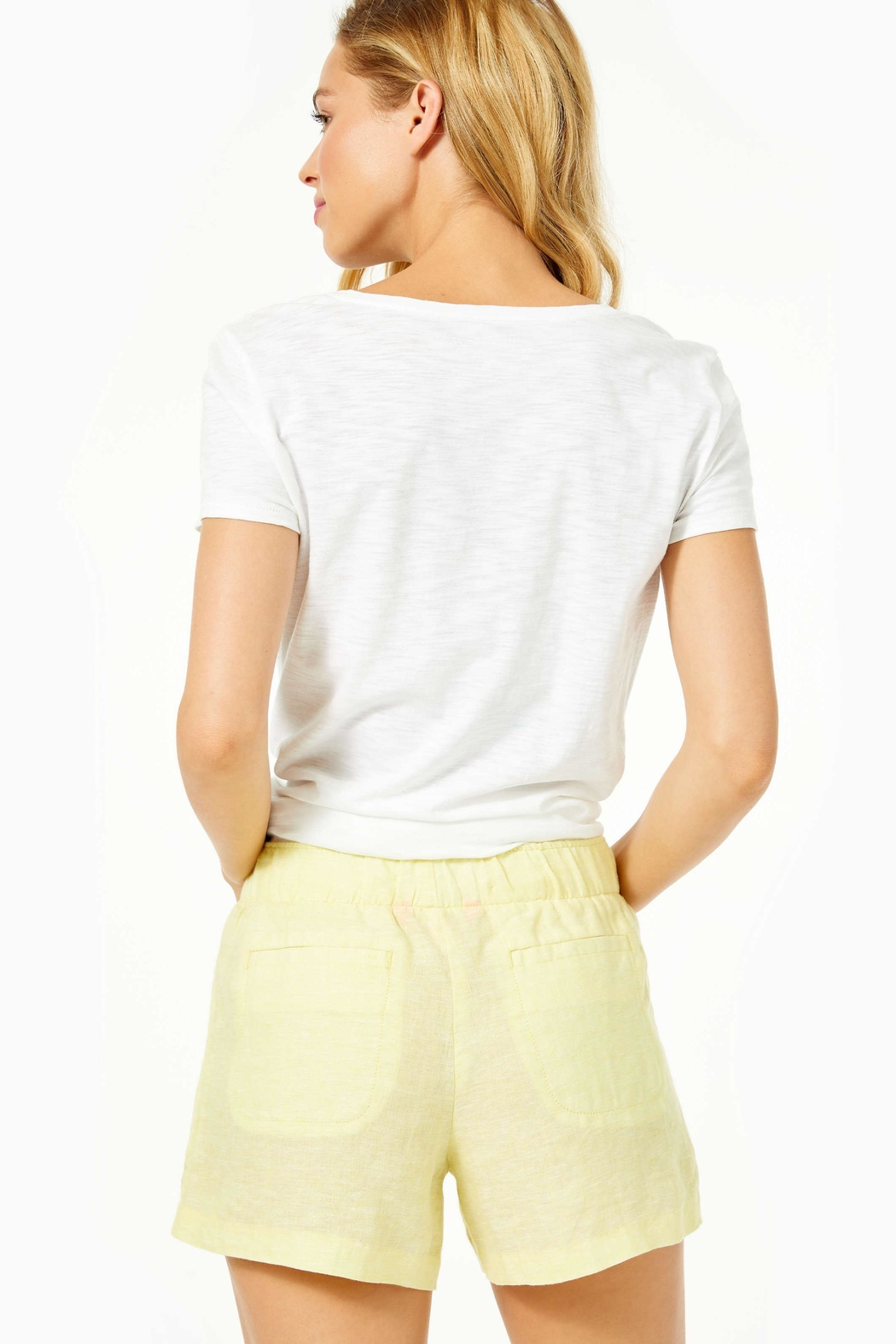 Lilly Pulitzer Lilo Linen Short - Front Full Image