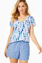 Lilly Pulitzer Lilo Linen Short - Front cropped