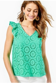 Lilly Pulitzer Lina Eyelet Top - Product Mini Image