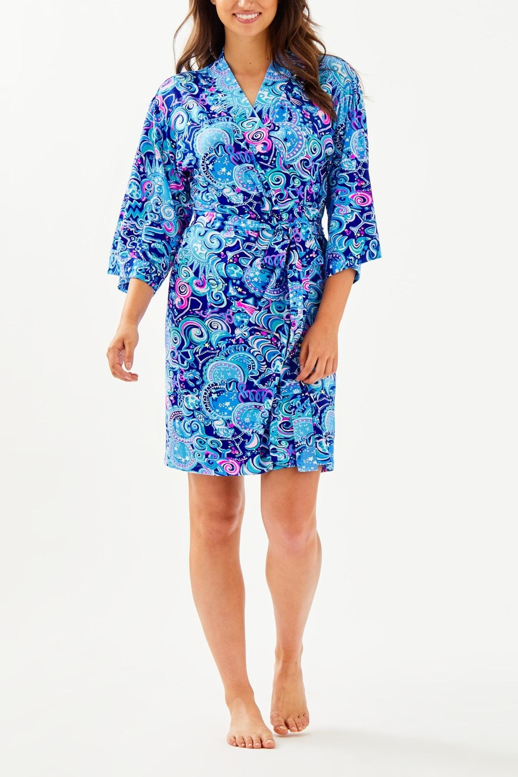 Lilly Pulitzer Lina Robe - Back Cropped Image