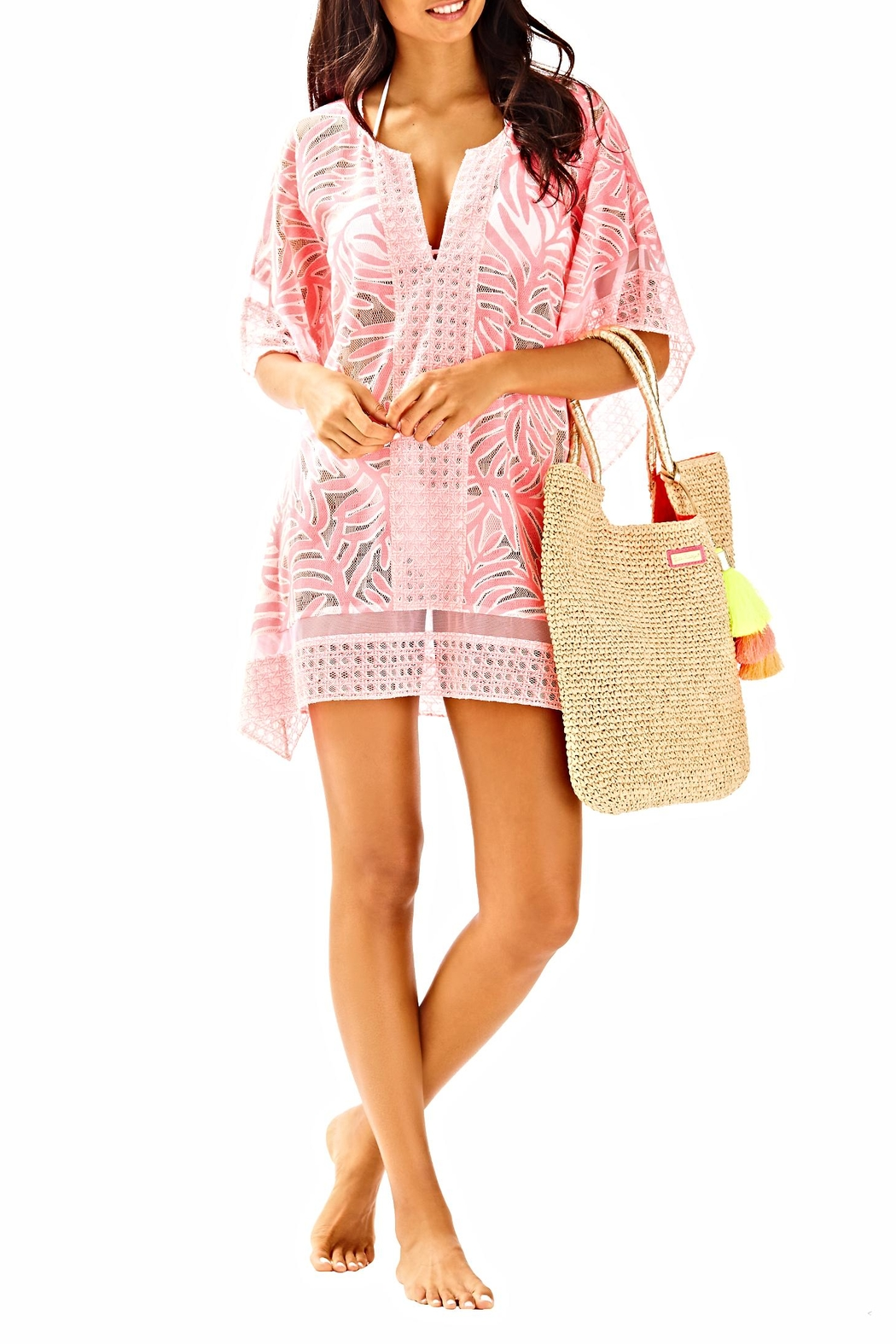 Lilly Pulitzer Lindamarie Coverup - Back Cropped Image
