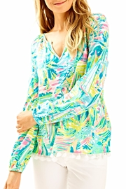 Lilly Pulitzer Casual Tassle Top - Product Mini Image