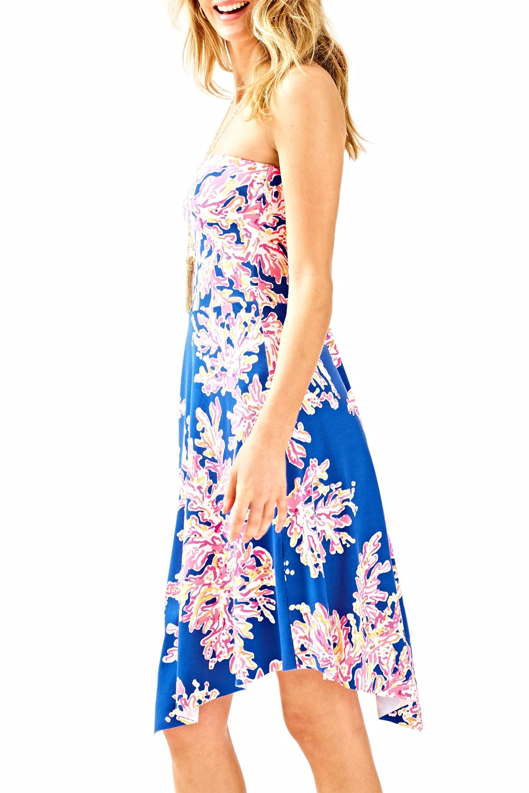 Lilly Pulitzer Loleta Strapless Dress - Back Cropped Image