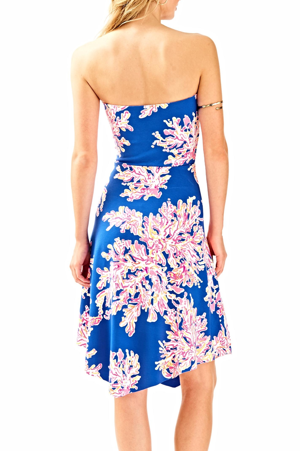 Lilly Pulitzer Loleta Strapless Dress - Side Cropped Image